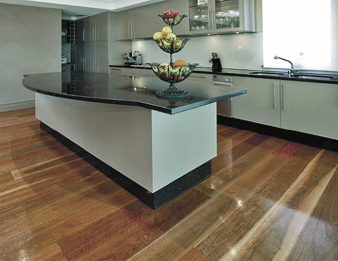 Spotted Gum - Solid Timber Flooring - 80mm x 19mm kitchen