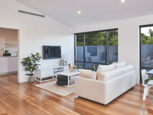 HM Walk - Spotted Gum - Engineered Timber Flooring room view